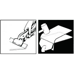 Cleste tinichigerie cu falci plate cu blocaj 205mm, FORCE - 2