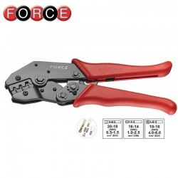 Crimp pliers for non-insulated terminals, FORCE - 1