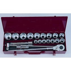"Socket set 3/4""DR. 20pc 12pt. Flank socket"