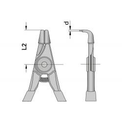 Зегер клещи отварящи(за вал) криви 40-100мм. GEDORE