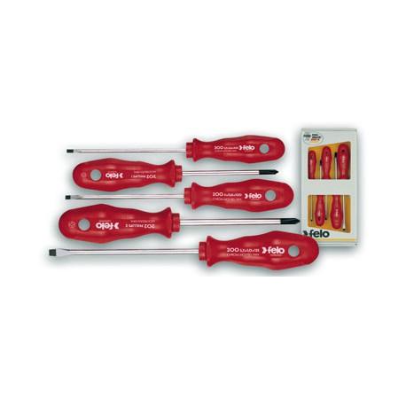 screwdriver set 5 pcs felo automotive tools equipment online shop. Black Bedroom Furniture Sets. Home Design Ideas