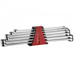 6pc Extra long flat ring wrench set