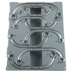 9pc Half-moon ring wrench set