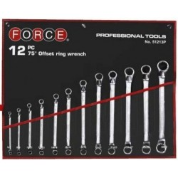 12pc 75 deg offset ring wrench FORCE