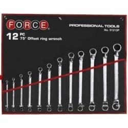 12pc 75 deg offset ring wrench FORCE