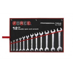 12pc Double open end wrench set FORCE