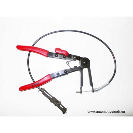 Flexible hose clamp pliers