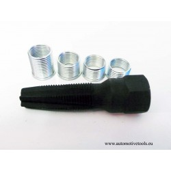 5pc Spark plug rethreader set