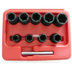 "10pc Specially impact socket set(3/8"" DR.)"