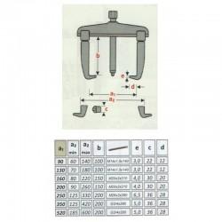 Gear puller 2 jaw 90x100mm - 3