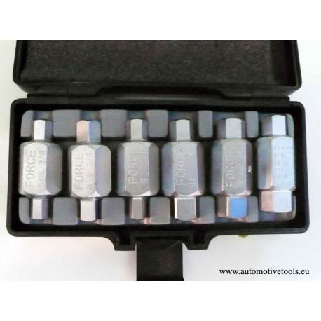 6pc Fill/Drain plug key set