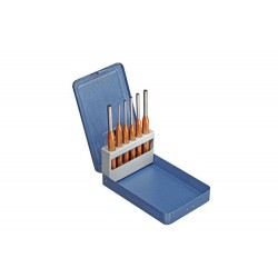 Pin punch set 6 pcs in metal case
