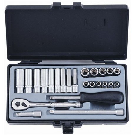 "Socket set 1/4"" 24pc"